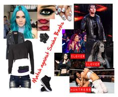 """Match against Sasha Banks *read description*"" by midnightrebel ❤ liked on Polyvore featuring CO, Karl Lagerfeld, Club L and Supra"