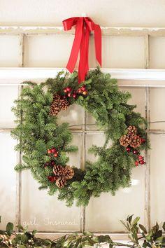 Girl. Inspired.: Evergreen Wreath DIY