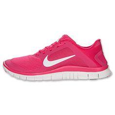 Women's Nike Free 4.0 V3 Running Shoes  FinishLine.com   Pink/White