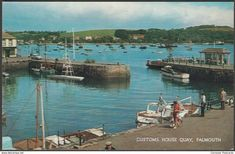 Customs House Quay, Falmouth, Cornwall, c.1960s - Salmon Postcard