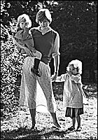 The famous kindergarten picture while she was dating Prince Charles.  The see-through skirt caused a sensation!