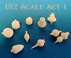23de6f968929 New for 2016 - 3D printed Resin Ornaments to Paint - Set 1 Dollhouse Kits