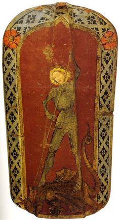 Pavise with St.George and the Dragon (Historisches Museum der Stadt Wien) -- Published: Wehrhafte Stadt: Das Wiener Buergerliche Zeughaus im 15. und 16. Jahrhundert.