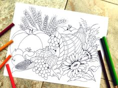 The Cornucopia Is A Celebration Of Hard Work Accomplished And Thankfulness Things We Have This Thanksgiving ColoringPage Meant To