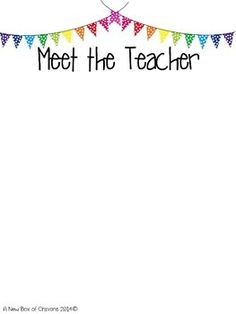 Free meet your teacher letter templates classroom for Free meet the teacher template