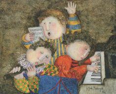 Piano Trio 1996 20x25 by Graciela Rodo Boulanger - Oil on Canvas