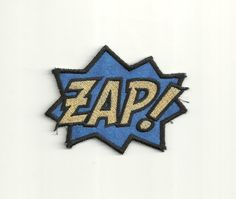 Super Hero, ZAP Patch! Any Color Combo! Custom Made!