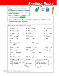english spelling rules pdf free download