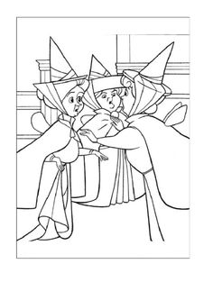 Cinderella Fairy Godmother Coloring Page