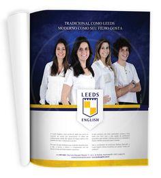 Desenvolvemos para a escola de inglês Leeds English um anúncio institucional de página inteira, que foi veiculado na revista MIX Educação do jornal O Liberal de Americana no mês de setembro.    Em nosso blog você fica sabendo mais sobre esse trabalho: http://www.mglcom.com.br/blog/2012-10-01-anuncio-leeds-english