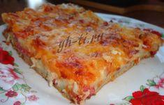 Быстрая и вкусная пицца. Ингредиенты для теста: яйца, сметана, майонез, соль, сода и мука. Подробный пошаговый рецепт с фото в новой статье на блоге: https://www.yh-ti.ru/2018/06/recept-piccy-s-myagkim-i-tonkim-testom-bez-drozhzhej/