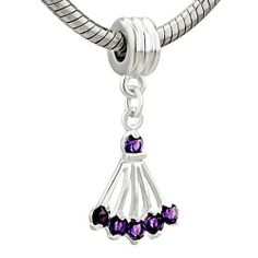 Pugster Light Amethyst Sector Crystal Dangle Bead Fit Pandora Charm & Bracelet Pugster. $0.49. Compatible with Biagi, and Chamilia beads. Unthreaded European story bracelet design. Pugster are adding new designs all the time Show Less. Measures 9mm X 14mm. Hole size is approximately 4.8 to 5mm. Save 94% Off!