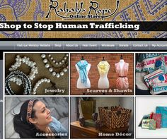 Rahab's Rope! Shop to stop human trafficking! Home Decor, Jewelry, Earrings, Accessories, Necklaces, Scarves, etc.