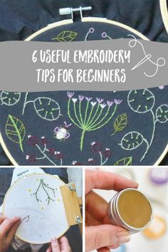 Embroidery is a relaxing way for you to connect with your inner creative and enjoy the process of making something beautiful. Here are our top tips which will help prevent you from getting in a tangle and boost your stitching confidence! Modern Embroidery, Embroidery Kits, Embroidery Stitches, Craft Kits, Craft Projects, Craft Ideas, Modern Crafts, Embroidery For Beginners, Something Beautiful