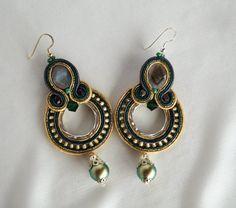 Soutache earrings by ArtWKluk on Etsy