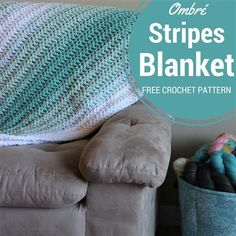 Ombré Stripes Blanket - Media - Crochet Me