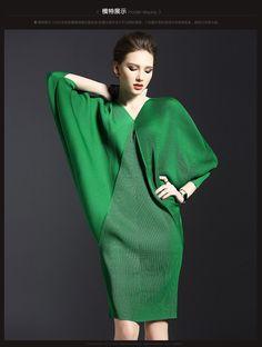 Women's Wrinkle Batwing Sleeve V Neck Slim Sexy Wrap Mini Dress /Pencil Skirt