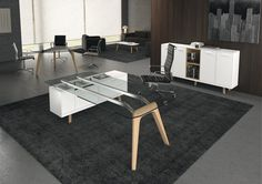 Desk with structural cabinet