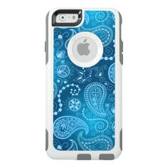 a28f4bd1d3bd03 ESZAdesign Seamless blue paisley pattern. Elegant style OtterBox iPhone  6 6s Case Paisley Pattern