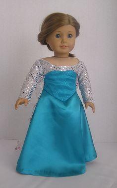 Doll Clothes Asian Dress Deep Aqua fits the 18 inch American Girl