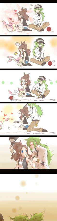 MAN THIS IS TOO CUTE!!!!! N x Touko - Pokemon: