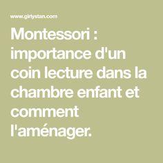 Montessori : importance d'un coin lecture dans la chambre enfant et comment l'aménager.