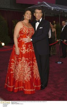 Pierce Brosnan and Keely Shaye Smith attending the 77th annual Academy Awards at the Kodak Theatre i...