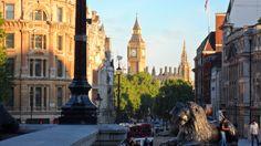 View of Big Ben from Trafalgar Square, May 2014