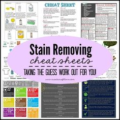 Stain Removing Cheat Sheets | Create Craft Love