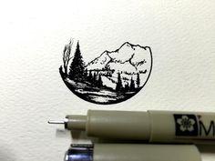 Derek Myers pen artwork