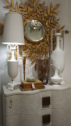 GLOBAL VIEWS New forms inspired by Grecian shapes - White & Gold - Showroom Tour - Lynda Quintero-Davids #DesignOnHpmkt  #HPMKT 2015