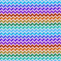 8 Colorful Block Chevron Freebie Printable Patterns!
