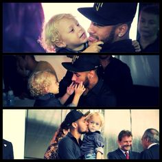 Neymar and his son Davi