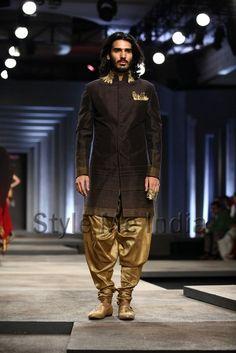 ♂ Ethic fashion man Bollywood style Indian Shantanu & Nikhil at India Bridal Fashion Week Delhi 2013
