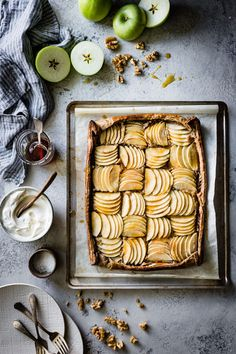 Eat Stop Eat To Loss Weight - Buckwheat Apple Galette with Maple Walnut Frangipane gluten-free, refined sugar-free - In Just One Day This Simple Strategy Frees You From Complicated Diet Rules - And Eliminates Rebound Weight Gain Tart Recipes, Sweet Recipes, Dessert Recipes, Drink Recipes, Bojon Gourmet, Gourmet Foods, Apple Galette, Sweet Pie, Stop Eating