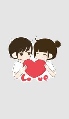Cute Couple Pictures Cartoon, Cute Couple Drawings, Cute Couple Art, Anime Love Couple, Love Drawings, Cute Anime Couples, Chibi Couple, Sweet Couple, Love Couple Wallpaper