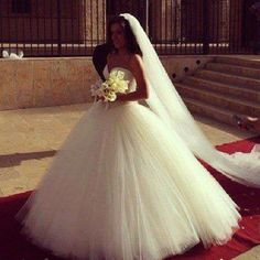 Ballroom Gown with a long veil