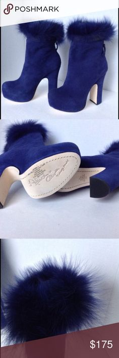 Alice+Olivia cobalt blue suede booties Super cute Alice + Olivia suede booties! Brand new never worn! Only open to trades for LV wallet (or other accessories) Alice + Olivia Shoes