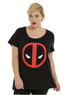 Marvel Deadpool Logo Girls T-Shirt Plus Size Movie Shirts, Plus Size T Shirts, Shirts For Girls, Deadpool, Cute Outfits, Clothes, Hot Topic, Logo Design, Chimichanga