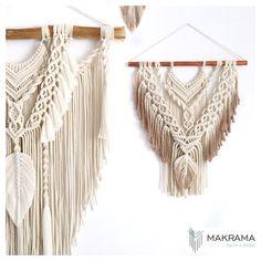 #makrama #macramewallhanging #walldecoration #nasciane  #dekoracjedomu Dream Catcher, Macrame, Crochet Top, Modern, Instagram, Decor, Dreamcatchers, Trendy Tree, Decoration