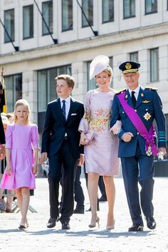 Royal Family Around the World: Belgian Royal Family Attend National Day Of Belgium 2017 in the Cathedral on July 21, 2017 in Brussels, Belgium.