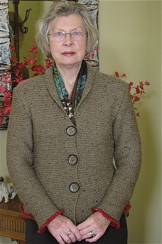 Ravelry: Project Gallery for Sophisticated-Rustic Jacket pattern by Pam Allen