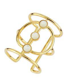Mother-of-Pearl Josephine Cuff by Lizzie Fortunato at Neiman Marcus.