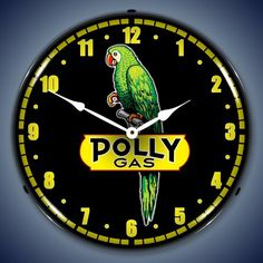 Polly Gas Lighted Wall Clock ** Check out the image by visiting the link. (This is an affiliate link and I receive a commission for the sales)