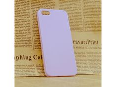 Clear Hard Purple Case Cover For iPhone 4/4S