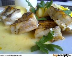 Aljašská treska s citronovo-máslovou omáčkou Camembert Cheese, Potato Salad, Mashed Potatoes, Pork, Food And Drink, Chicken, Cooking, Ethnic Recipes, Lemon