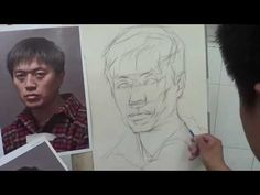 Portrait Drawing with Pencil - Portrait of young man - Drawing Tutorial Online - YouTube