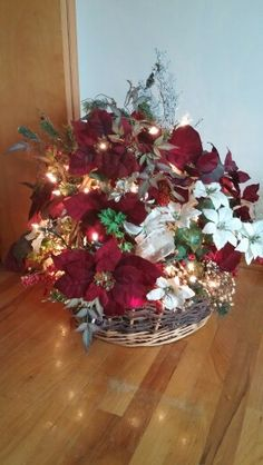 One of my best designs  large decorated lit basket