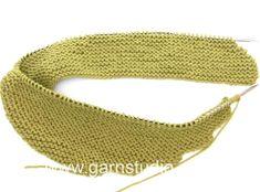 DROPS Knitting Tutorial: How to work socks in garter st diagonally – PART 1