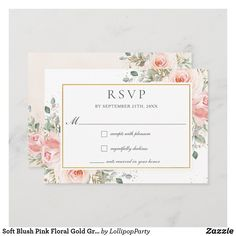 In Your Honor, Wedding Rsvp, Wedding Ideas, Card Sizes, Blush Pink, Greenery, Bridal Shower, Place Card Holders, Gender
